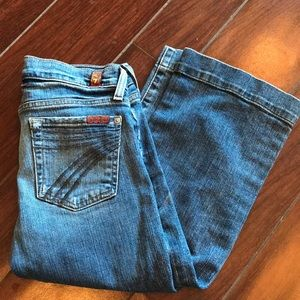 7 for All Mankind size 25 stretch denim crop jeans